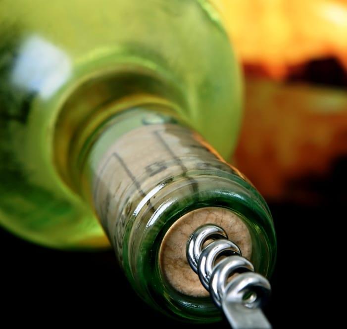 ck-Tanzwein mit Korkenzieher